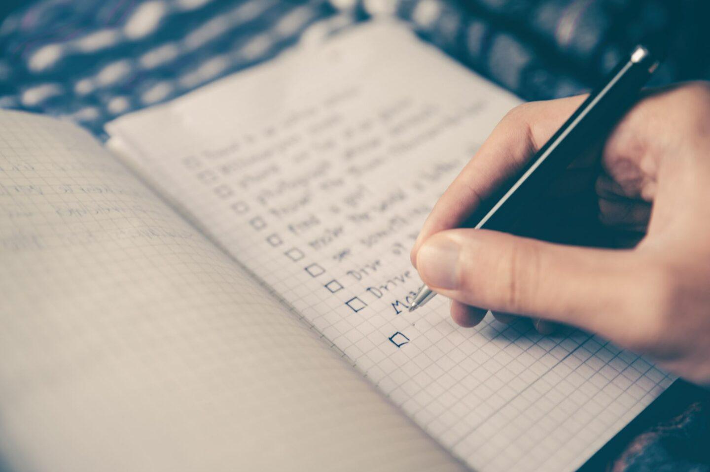 making a list
